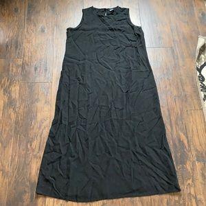 Eileen Fisher Black Linen Black Maxi Dress